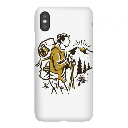 Hiker Iphonex Case Designed By Quilimo