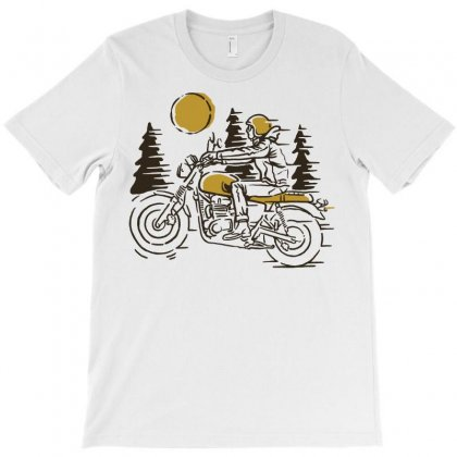 Classic Biker T-shirt Designed By Quilimo
