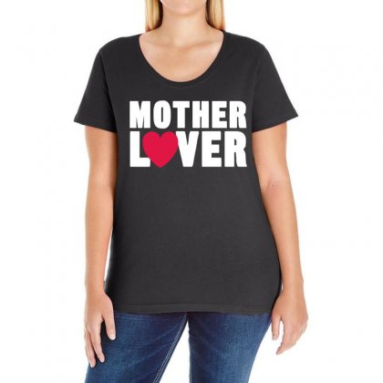 Mother Lover Ladies Curvy T-shirt Designed By 4kum