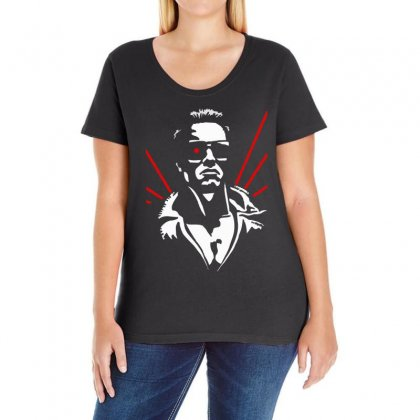 New Retro 1980's The Terminator Ladies Curvy T-shirt Designed By 4kum