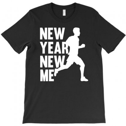 New Year, New Me Running Fitness T-shirt Designed By 4kum