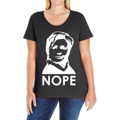 Nope Ladies Curvy T-shirt Designed By 4kum