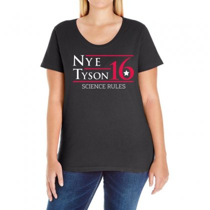 Nye Tyson '16 Science Rules Ladies Curvy T-shirt Designed By 4kum