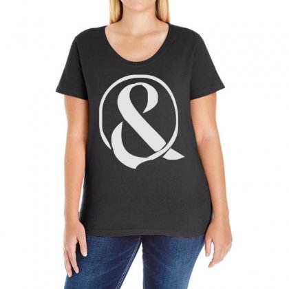 Of Mice And Men Ampersanarchy2 Ladies Curvy T-shirt Designed By 4kum