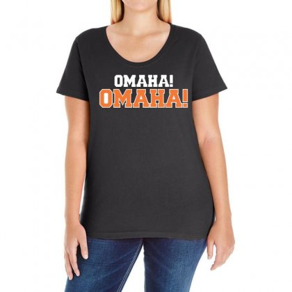 Omaha Omaha Ladies Curvy T-shirt Designed By 4kum