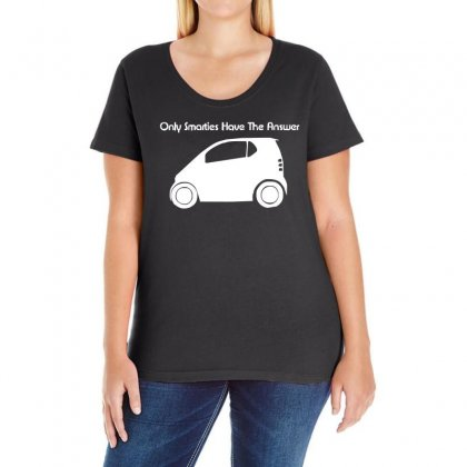 Only Smarties Have The Answer'   Funny Ladies Curvy T-shirt Designed By 4kum