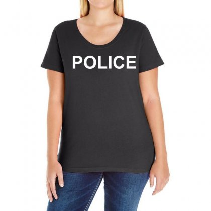 Police Ladies Curvy T-shirt Designed By 4kum