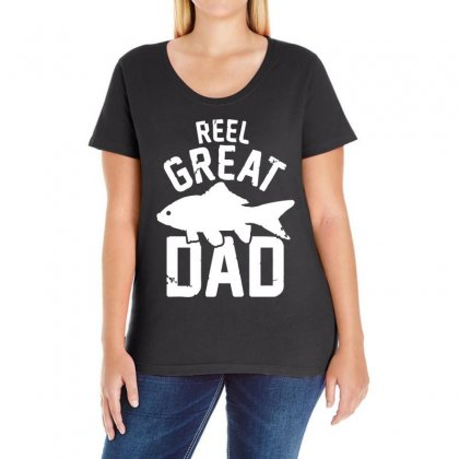 Reel Great Dad Ladies Curvy T-shirt Designed By 4kum