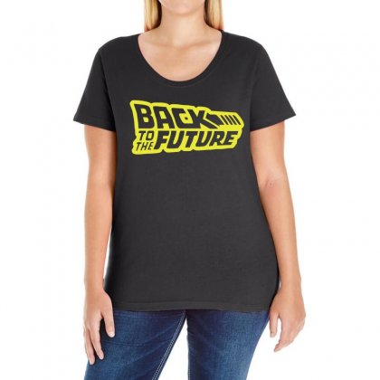 Retro Back To The Future Ladies Curvy T-shirt Designed By 4kum
