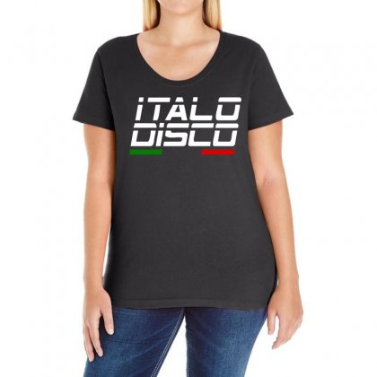Retro Italo Disco Ladies Curvy T-shirt Designed By 4kum