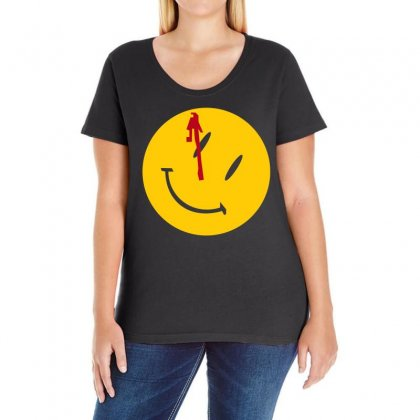 Watchmen Comedian Rorschach Comic Adult Movie Ladies Curvy T-shirt Designed By 4kum