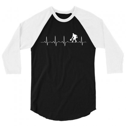 Basketball Heartbeat T Shirt 3/4 Sleeve Shirt Designed By Hung