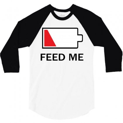 Feed Me Low Power 3/4 Sleeve Shirt Designed By Hardpoi