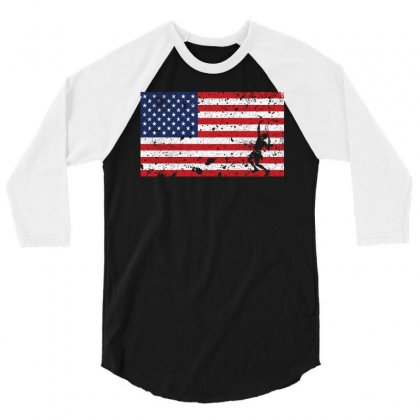 American Flag Tennist Shirt   Tennis Team Gift 3/4 Sleeve Shirt Designed By Hung