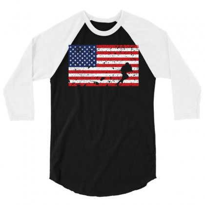 American Flag Rugby T Shirt   Rugby Team Gift 3/4 Sleeve Shirt Designed By Hung
