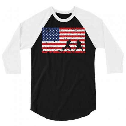 American Flag Boxing T Shirt   Boxing Team Gift 3/4 Sleeve Shirt Designed By Hung