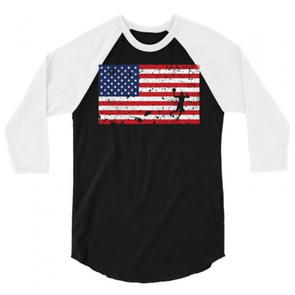 American Flag Basketball T Shirt   Basketball Team Gift 3/4 Sleeve Shirt Designed By Hung