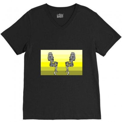 Zone Out V-neck Tee Designed By Jolaineann