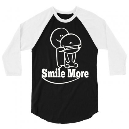Smile T Shirt More 3/4 Sleeve Shirt Designed By Hung