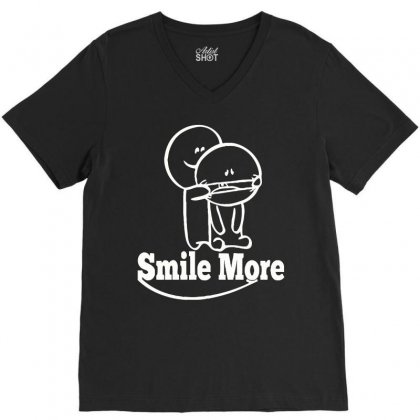 Smile T Shirt More V-neck Tee Designed By Hung