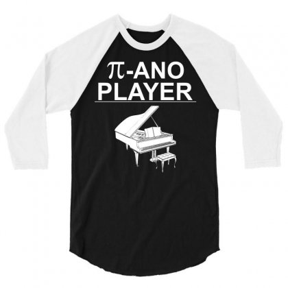 Pi Ano Player Funny Music Player T Shirt In Blue Typography 3/4 Sleeve Shirt Designed By Hung