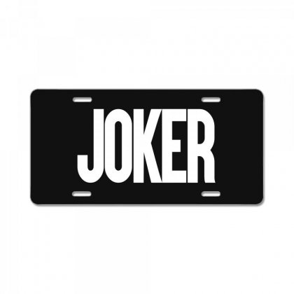 Joker Logo 2019 License Plate