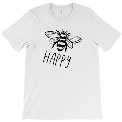 Bee Happy Matching Funny Tshirt T-shirt Designed By Alex