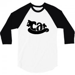 animals logo cat funny tshirt 3/4 Sleeve Shirt | Artistshot