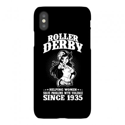 Roller Derby Helping Women Solve Problems With Violence Iphonex Case Designed By Milanacr