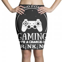 weekend forecast mountain gaming with a chance of drinking Pencil Skirts | Artistshot