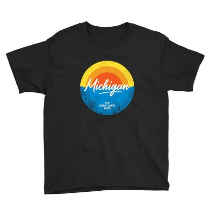 The Great Lakes State Youth Tee Designed By Blqs Apparel