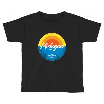 The Great Lakes State Toddler T-shirt Designed By Blqs Apparel