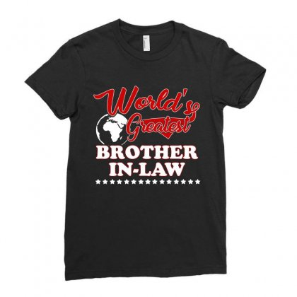 World S Greatest Brother In Law Ladies Fitted T-shirt Designed By Hung
