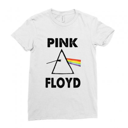 Pink Floyd Ladies Fitted T-shirt Designed By Blqs Apparel