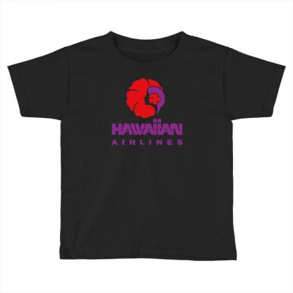 Stylish Retro Hawaiian Airlines Toddler T-shirt Designed By S4de