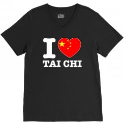 I Love China Tai Chi chi V-Neck Tee | Artistshot