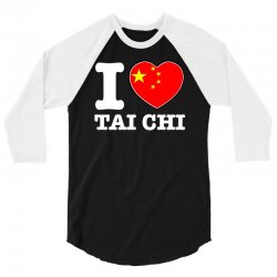I Love China Tai Chi chi 3/4 Sleeve Shirt | Artistshot