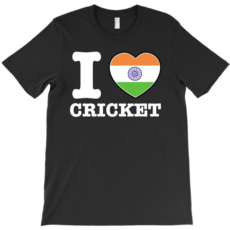 I Love Cricket Indian Flag T-shirt | Artistshot