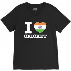 I love cricket Indian flag V-Neck Tee | Artistshot