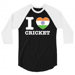 I love cricket Indian flag 3/4 Sleeve Shirt | Artistshot