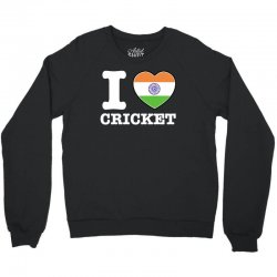 I love cricket Indian flag Crewneck Sweatshirt | Artistshot