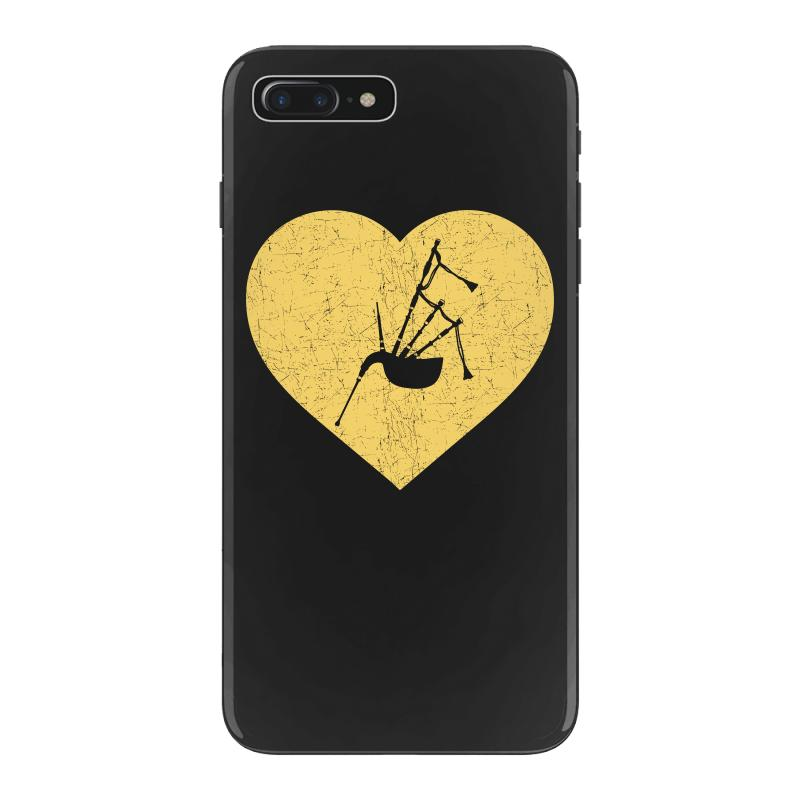 I Love Bagpipe Heart Shirt Funny Marching Band Jazz Gift Iphone 7 Plus  Case  By Artistshot