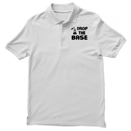 Men S Drop The Base Funny Science Shirt Gift For Scientists Small Roya Men's Polo Shirt