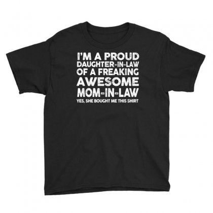 Proud Daughter In Law Of Awesome Mother In Law T Shirt Youth Tee Designed By Hung
