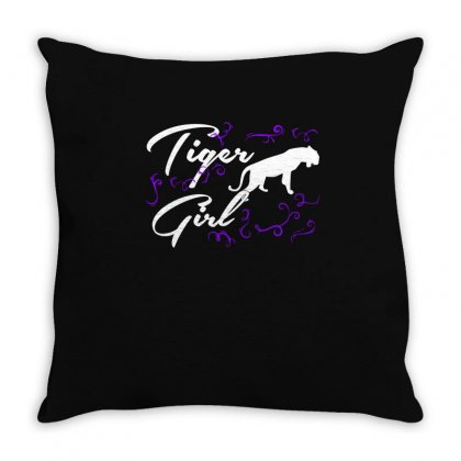 Tiger Girl T Shirts   Tiger T Shirt Riding Lovers Shirts Throw Pillow Designed By Hung