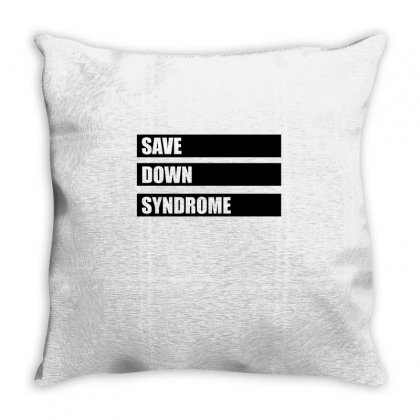 Save Down Syndrome Logo Throw Pillow Designed By Omer Acar