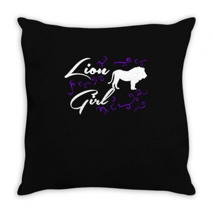 Lion Girl T Shirts  Lion T Shirt Riding Lovers Shirts Throw Pillow Designed By Hung