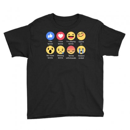 I Love Tennis Emoji T Shirt Youth Tee Designed By Hung