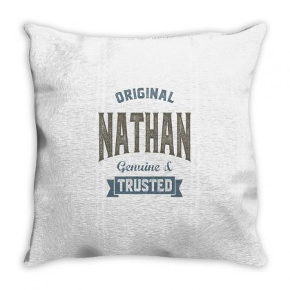 Is Your Name, Nathan. This Shirt Is For You! Throw Pillow Designed By Chris Ceconello