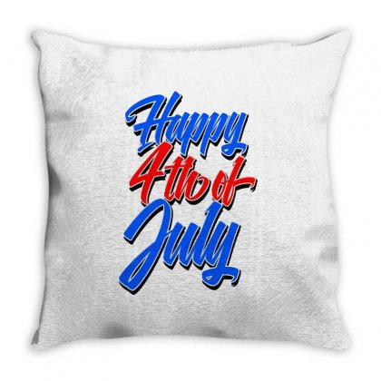 Happy 4th Of July Throw Pillow Designed By Tiococacola